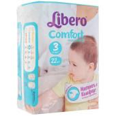Изображение Libero Comfort №3 4-9 кг Подгузники 22шт