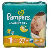 Изображение Pampers New Baby-Dry Newborn №1 2-5кг Подгузники 27шт