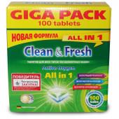 Изображение Clean&Fresh Таблетки Для Посудомоечных Машин 100 шт