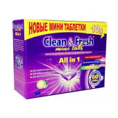Изображение Clean&Fresh Mini Таблетки Для Посудомоечных Машин 60 шт