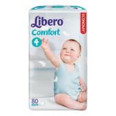 Изображение Libero Comfort №4 7-14 кг Подгузники 80шт
