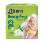 Изображение Libero Everyday №2 3-6 кг Подгузники 24шт