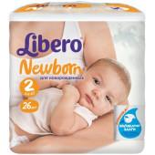 Изображение Libero Newborn №2 3-6 кг Подгузники 26шт