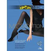 Изображение Omsa Micro & Cotton Колготки 140  den 4-L  Nero Черный