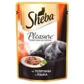 Изображение Sheba Pleasure Ломтики В Соусе Из Курицы И Индейки 85 г
