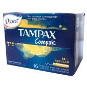 Изображение Tampax Compak Regular Тампоны Женские Гигиенические с Аппликатором 16шт