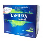 Изображение Tampax Compak Super Тампоны Женские Гигиенические с Аппликатором 16шт