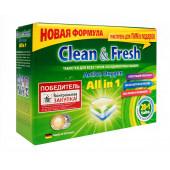 Изображение Clean&Fresh Таблетки Для Посудомоечных Машин 28  шт