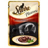 Изображение Sheba Pleasure Ломтики В Соусе Из Говядины И Ягненка 85 г