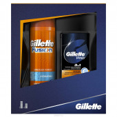 Изображение Подарочный Набор Gillette Fusion Proglide Гель Для Бритья 200 мл И Бальзам После Бритья 50 мл