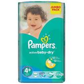 Изображение Pampers Active Baby-Dry  №4+  9-16кг Подгузники 62шт