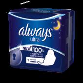 Изображение Always Ultra Night Женские Гигиенические Прокладки с крылышками 7шт