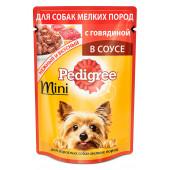 Изображение Pedigree С Говядиной В Соусе Для Взрослых Собак Мелких Пород 85 г