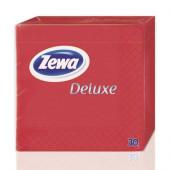 Изображение Zewa Deluxe 2-слойные Красные Столовые Бумажные Салфетки 30шт