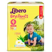 Изображение Libero Dry Pants №4 7-11 кг Трусики-Подгузники 54шт
