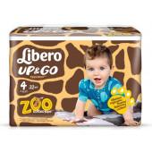 Изображение Libero Up & Go №4 7-11 кг Зоопарк Коллекция Трусики-Подгузники 32шт